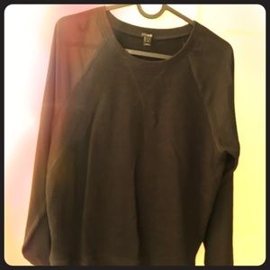 J Crew sweat shirt with see-through sleeves.
